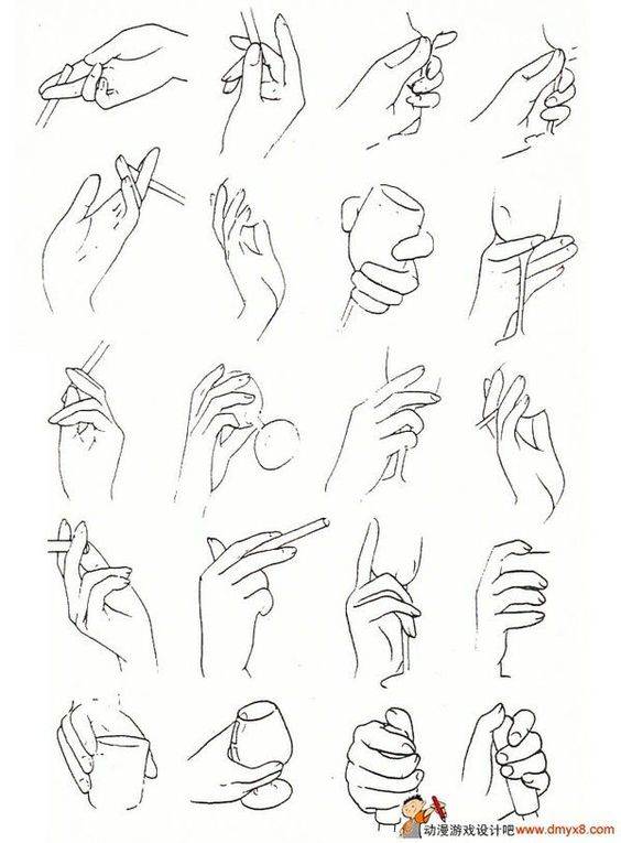 Gallery For gt Anime Hand Drawing Reference