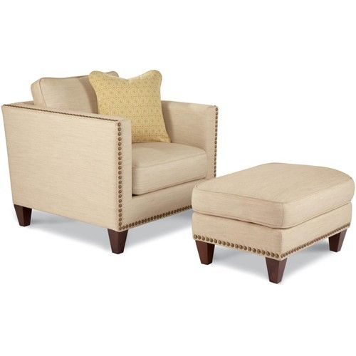 Elements Rubbed Medium Brown Wood Ottoman ~ La z boy kinsley chair and a half with ottoman godby