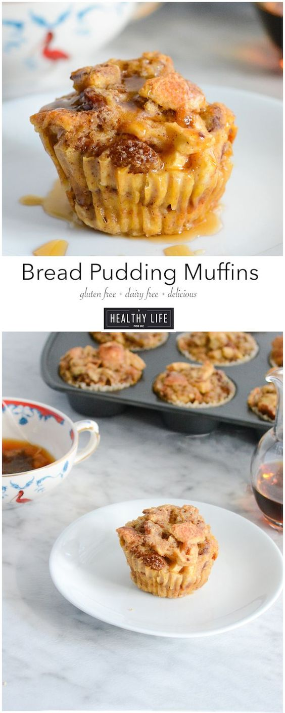 Bread Pudding Muffins are little cups of heaven. Loaded with cinnamon ...