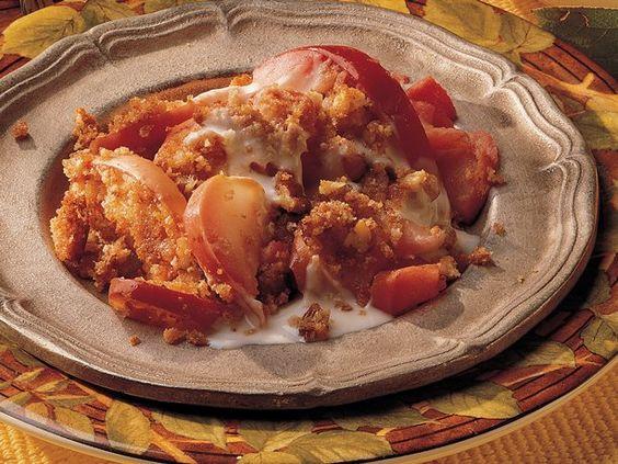 Apple Pecan Crisp — A delightful twist on an old favorite!  ~ℛ