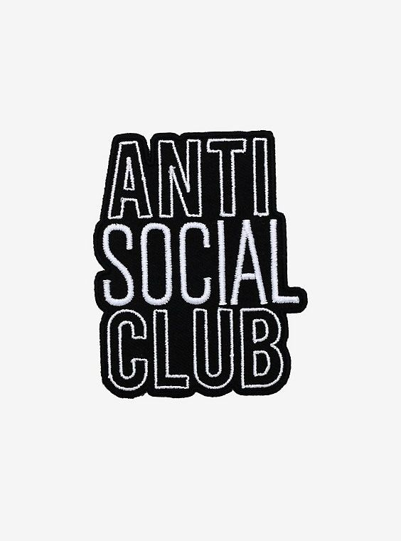Antisocial Club Patch In 2020 Anti Social Text Design Patches