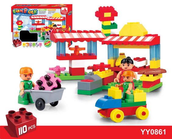 110pcs hot selling kids building block toys from China toys manufacture.