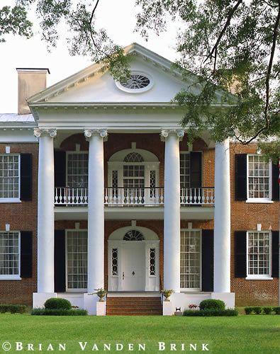 Portico, Auburn, Natchez, Mississippi -- Brian Vanden Brink - Architectural Photographer