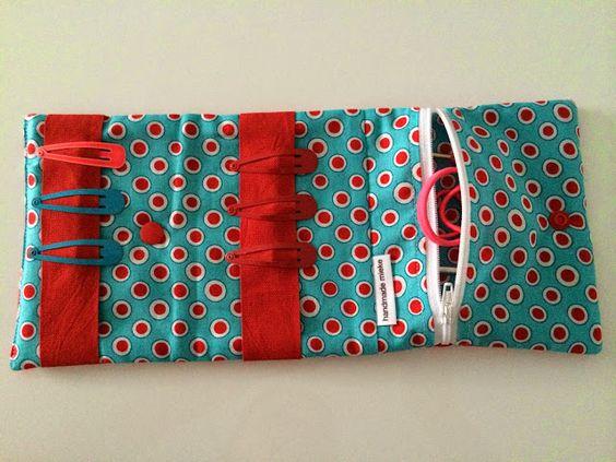 Handmade Mieke: HANDLEIDING zakje voor haarspeldjes en elastiekjes