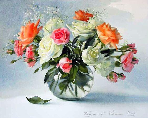 E.Bazanova (b.1968) — Roses (1000×803):