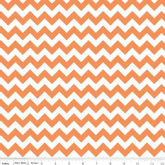 Orange Small Chevron Fabric by Riley Blake C340-60 - 1 Yard. $9.00, via Etsy.  I love to look at fabric!