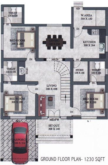 1440 Sq Ft Two Storied 3bed Attached House Free House Plan House Plans Mansion Free House Plans My House Plans