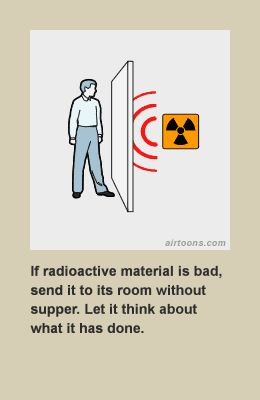 Staring at the wall can cause radioactive harm to your person.