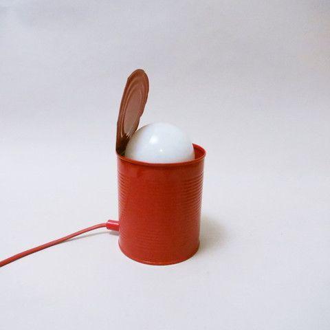 lampe boite de conserve pop ann es 80 design pinterest pop. Black Bedroom Furniture Sets. Home Design Ideas