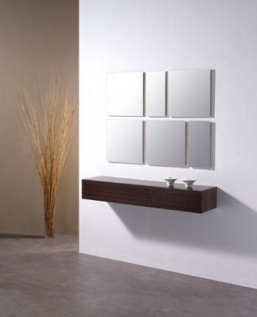 Recibidor cajon colgado 4 cajon ebro y espejo mekinley - Muebles para recibidores ...