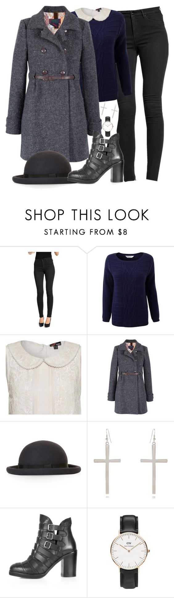 """""""Untitled #76"""" by zarryalmighty ❤ liked on Polyvore featuring H&M, EAST, Yumi, Topshop, River Island and Daniel Wellington"""