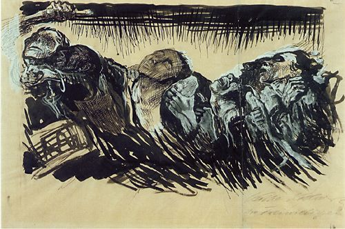 Kathe Kollwitz, The Volunteers, 1920: