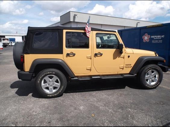 """2014 Jeep #Wrangler Unlimited (Ext. color """"Dune"""")"""