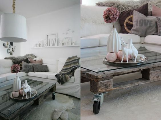 Decoração com paletes de madeira.: Center, Home Decoration, Decoration For, Wood