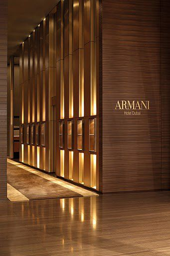 Armani Hotel Dubai -Lobby and reception, collaboration with American architects Wilson Associates (Dallas )