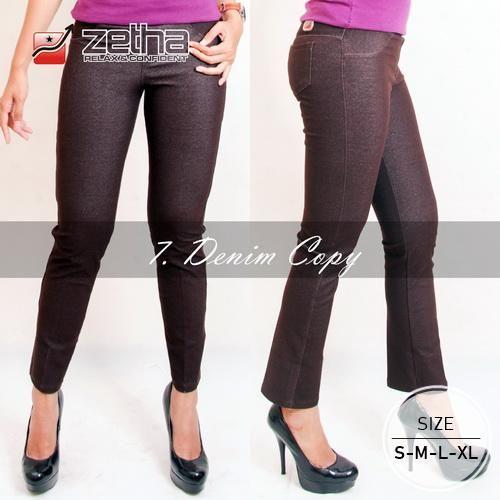 Beli Celana Panjang Wanita Premium Bahan Denim Kopi Size S M L Xl Zethacs Dari Zetha Clothing Store Dina1110 Semarang Hanya Di Buk Fashion Skinny Jeans Denim
