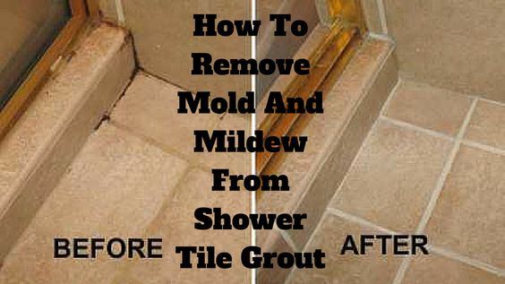 clean shower grout grout and remove mold on pinterest