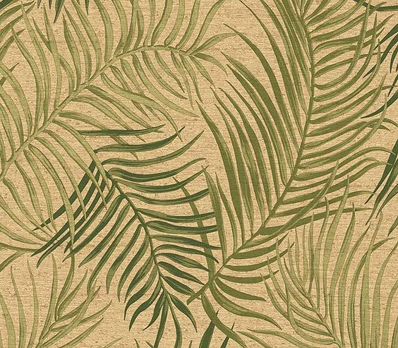 Interior Place - Tan Tropical Palms Wallpaper, $39.95 (http://www.interiorplace.com/tan-tropical-palms-wallpaper/)
