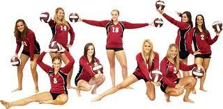 volleyball poses, love this for team picture