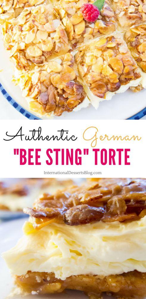 Authentic Bienenstich Kuchen German Bee Sting Cake Recipe Recipe German Baking International Desserts Traditional German Desserts