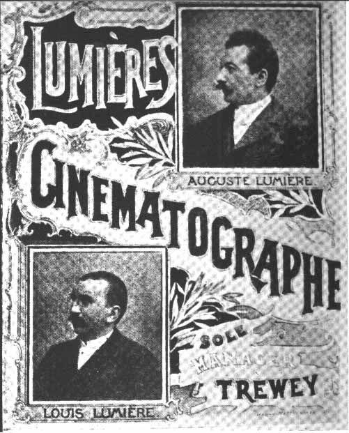 """1895 - Frères Lumières, inventeurs du """"kinétoscope de projection"""", ou cinématographe"""