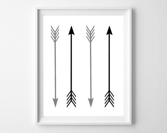 Arrows hippie wall art black and white dorm room decor for Hipster wall art ideas