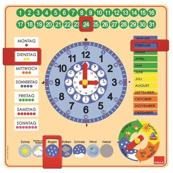 """Jumbo D51309 - Kalender-Uhr, EUR 21,99 - mit """"richtiger"""" Uhr kombinieren? Evtl. schon ab 3 Jahren?"""