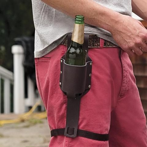 Personalizable Beer Holster.