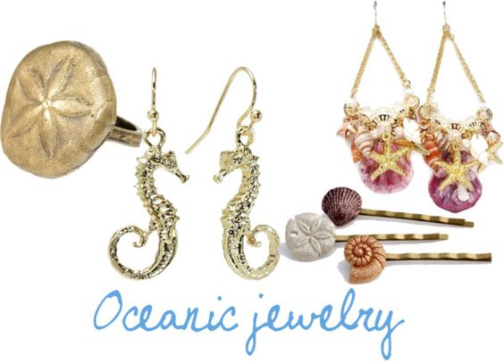 """""""Oceanic Jewelry"""" by bridgetteraes ❤ liked on Polyvore"""