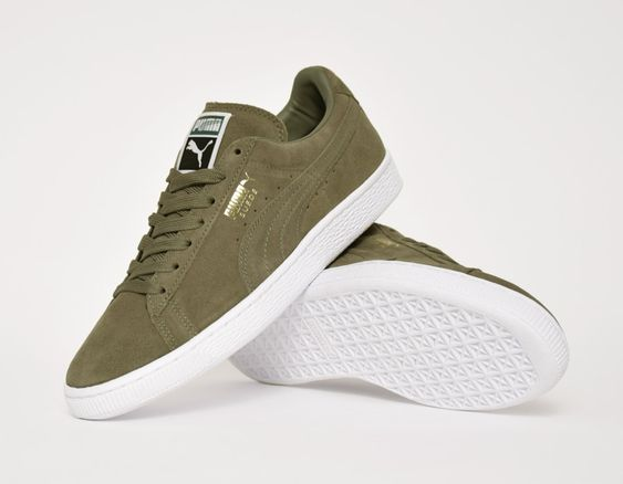 #Puma Suede Classic Olive #sneakers