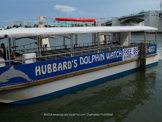 Hubbard's offers a fantastic #dolphin watching in the Madeira Beach area. Many sightings (guaranteed) and great views of Boca Ciega Bay! #Florida
