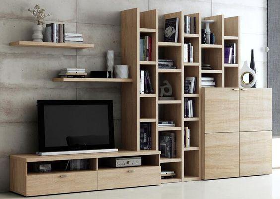 Toro Wohnzimmer Regal Wohnwand Bücherregal eiche natur sägerau - wohnwand modern klein