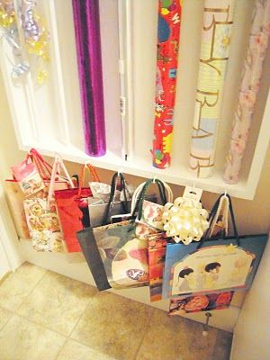 My Cottage Charm: That's a Wrap! How to Build a Gift Wrap & Ribbon Work Station! :-)