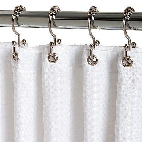 Titan Neverrust Aluminum Double Roller Shower Curtain Hooks In Chrome Set Of 12 Shower Curtain Hooks Shower Curtain Decor