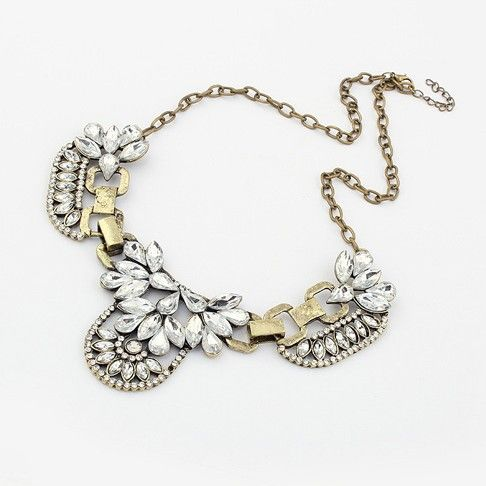 Free Shipping 2013 fashion trendy chain Europe bib Romantic choker chunky Necklace statement jewelry for women € 3,32