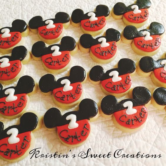 Mickey Mouse cookies!  Check out Kristin's Sweet Creations on Facebook.