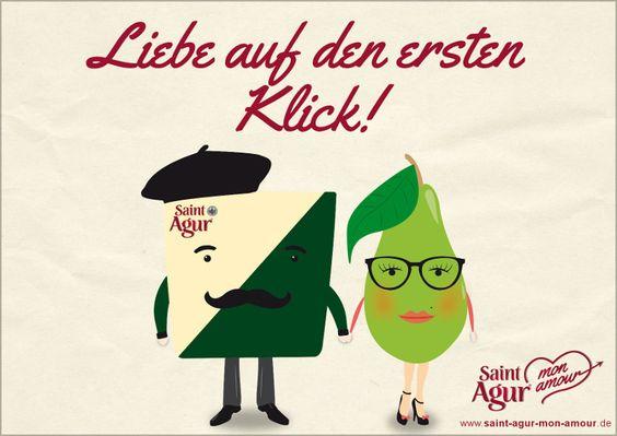 Liebe auf den ersten klick! Saint Agur mon amour - eine zaertlich-cremige Liebesgeschichte. Die ganze Story, leckere Käse-Rezepte, tolle Gewinne und vieles mehr jetzt auf saint-agur-mon-amour.de!