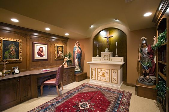 This home has a prayer room plan 091s 0001 for Catholic decorations home