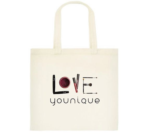 Love Younique Presenters Makeup Reusable Tote by DirectSalesSwag