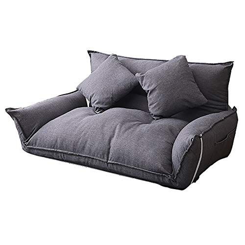 Lazy Couch Lazy Couch Single Double Bedroom Small Sofa Floor Chair Foldable Removable Washable Sofa Bed Color Gray Floor Couch Small Sofa Bed Lazy Sofa
