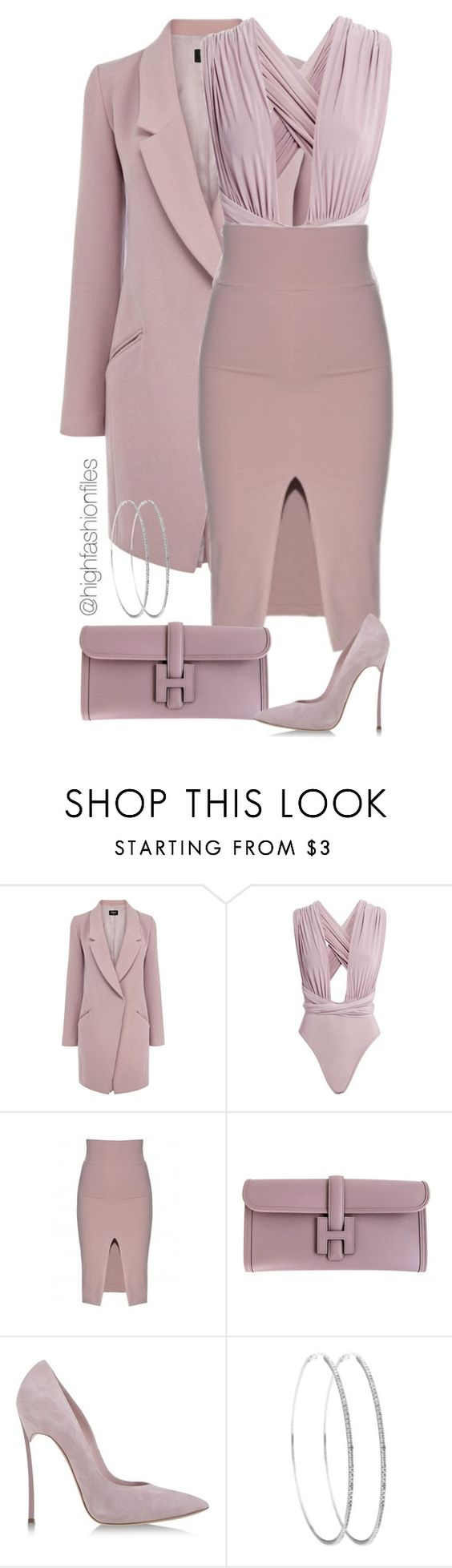 """Suave Muave"" by highfashionfiles ❤ liked on Polyvore featuring Oasis, Hermès and Casadei:"