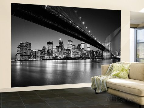 Skyline di Manhattan Wallpaper Mural su AllPosters.it  €169.99
