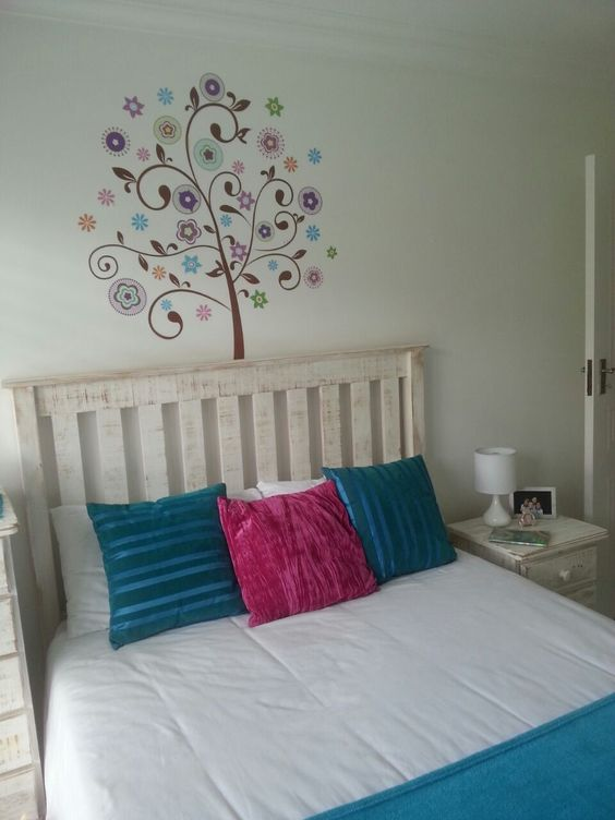 This tree wall sticker was put up in a 9 year old girl 39 s bedroom the colours go perfectly with - Years old girl bedroom ...