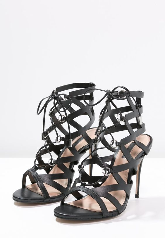 Topshop LUX High Heel Sandaletten black | Stylaholic