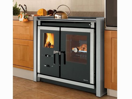 zero clearance wood cook stove by la nordica italy wood cook stoves pinterest stove. Black Bedroom Furniture Sets. Home Design Ideas