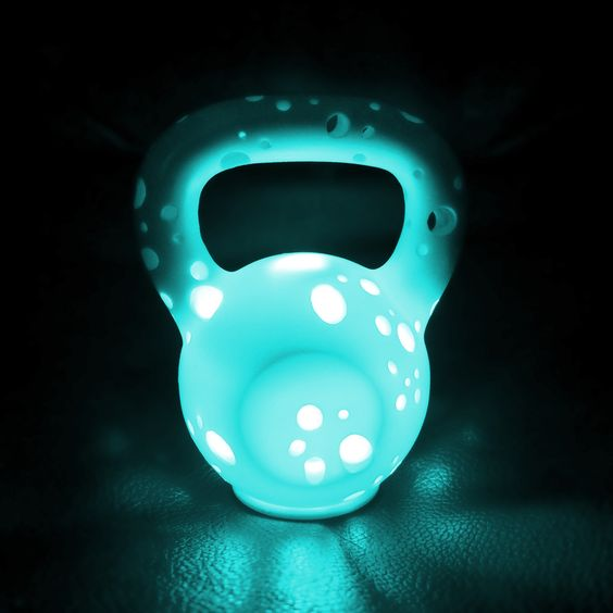 Kettle Light with the LED set to green. #kettlelight #kettlebell #green