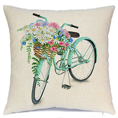 Vintage Spring Flower Decorative Throw Pillow Covers Couch And Bed Cushion Cover