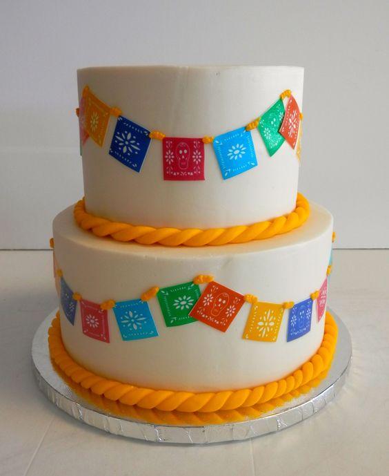 Papel picado #cake! #diadelosmuertos #DayOfTheDead