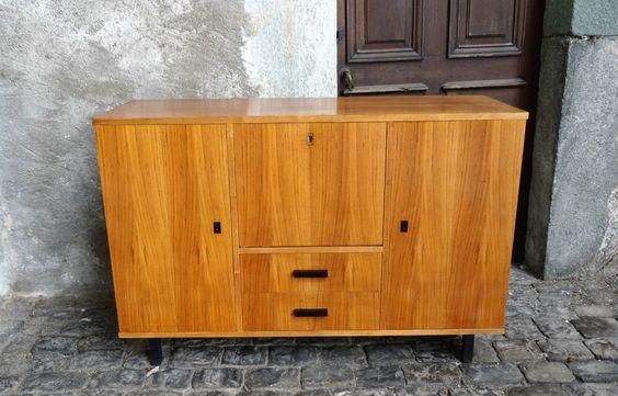 Détails sur Vintage meuble enfilade buffet design side board 60\u0027S