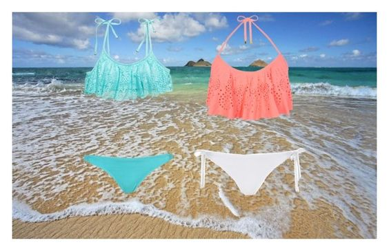 """""""beach with bff"""" by thatdevilkid7 ❤ liked on Polyvore"""